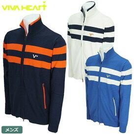 【ゴルフ】【アウター】ビバハート VIVA HEART メンズ ソフトタッチ 裏付きニットブルゾン 011-56016