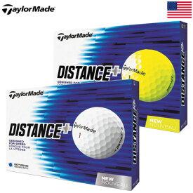 【ゴルフ】【ボール】テーラーメイド TAYLORMADE 2018 DISTANCE PLUS (ディスタンス プラス) 2ピースボール 1ダース (USA直輸入品)
