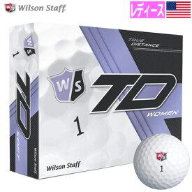【レディース】ウイルソンスタッフ 2017 TRUE DISTANCE ソフト2ピース ゴルフボール WOMENS WHITE 1ダース USA直輸入品 ホワイト MEGASALE