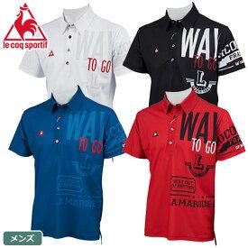 ルコック メンズ アシンメトリーグラフィックポロシャツ QGMNJA11 le coq sportif GOLF 2019春夏 日本正規品