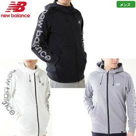 ニューバランス 2019 メンズ スウェット フルジップ フーディ 0129162001 ホワイト ブラック グレー 日本正規品 ゴルフウェアトップス New Balance Golf