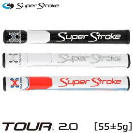 スーパーストローク 2019 TRAXION トラクション TOUR 2.0 パター用 グリップ (55±5g/横幅約28mm/長さ約267mm/内径58)