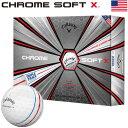 キャロウェイ 2019 CHROME SOFT X TRIPLE TRACK ソフトウレタンカバー 4ピース ゴルフボール USA直輸入品【グラフェン…