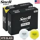 スネルゴルフ 2019 MTB BLACK 3ピース キャストウレタンカバー ゴルフボール 1ダース USA直輸入品【R&A/USGA公認球】…