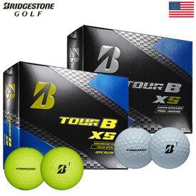 ブリヂストンゴルフ BRIDGESTONE GOLF 2017 TOUR B XS ボール 1ダース [フィーリング+飛距離性能](USA直輸入品)【3ピース】【ゴルフ】【ボール】