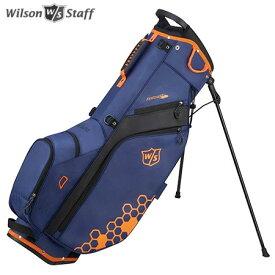 ウイルソン FEATHER CARRY BAG 9.5型 スタンド キャディバッグ ブルー/ブラック/オレンジ WILSON STAFF
