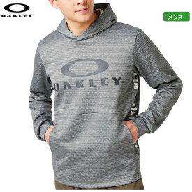 オークリー メンズ Enhance Grid Fleece Hoody 9.7 パーカー 461800JP-29A Dark Gray Heather トップス 日本正規品 2019秋冬