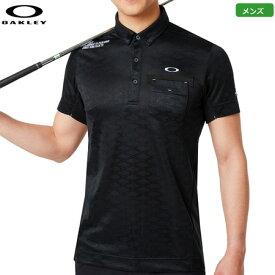 オークリー メンズ Skull Rhomboid JQ Shirts 半袖ポロシャツ 434482JP-02E Blackout シャツ