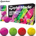 テーラーメイド 2019 DISTANCE+ SOFT マルチカラー(4色入り) ボール 1ダース 日本正規品