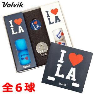 【限定】Volvik VIVID I LOVE Los Angeles (ボルビック ビビッド アイ ラブ ロサンゼルス) 限定パッケージ マットカラー ゴルフボール 全6球入 クリップマーカー付 USA直輸入品【艶消し】【マットカラ