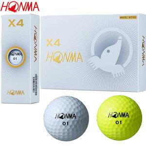 本間ゴルフ 2019 X4 ウレタンカバー 4ピース ゴルフボール 日本正規品