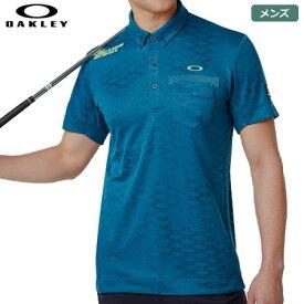 オークリー メンズ Skull Rhomboid JQ Shirts 半袖ポロシャツ 434482JP-68T Moroccan Blue シャツ