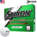 スリクソン SOFT FEEL メンズ ゴルフボール アイオノマーカバー 2ピース 1ダース USA直輸入品 ソフトフィール【お買得】