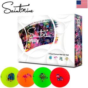 【公認球】Saintnine Misty セイントナイン ゴルフボール マットカラー 3ピース アイオノマーカバー Mental Mates USA直輸入品【オウンネームプリント】