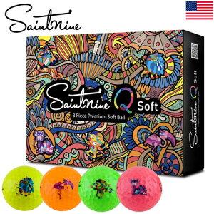 【公認球】Saintnine Q Soft セイントナイン ゴルフボール 3ピース アイオノマーカバー Mental Mates USA直輸入品【オウンネームプリント】
