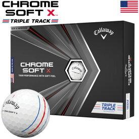 【土日祝も発送】キャロウェイ 2020 CHROME SOFT X TRIPLE TRACK クロムソフトX トリプルトラック ゴルフボール 1ダース USA直輸入品 2020年モデル【USパッケージ】