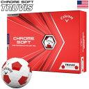 キャロウェイ 2020 CHROME SOFT TRUVIS クロムソフト トゥルービス ホワイト×レッド ゴルフボール 1ダース USA直輸入品 2020年モデル【USパッケージ】