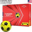 キャロウェイ 2020 CHROME SOFT TRUVIS クロムソフト トゥルービス イエロー×ブラック ゴルフボール 1ダース USA直輸入品 2020年モデル【USパッケージ】