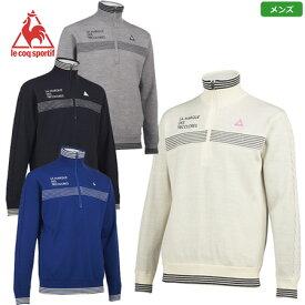 ルコック ジップアップ防風裏付セーター メンズ 2020秋冬 QGMQJL05