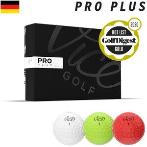 【HOT LIST 2020 金賞】Vice GOLF PRO PLUS ヴァイスゴルフ プロ プラス 4ピース ウレタンカバー ゴルフボール 1ダース 12球入 USA直輸入品【ヘッドスピード49m/s以上推奨】【公認球】【ゴルフボール】
