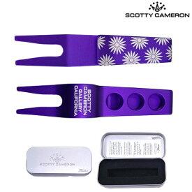 【稀少】スコッティキャメロン PIVOT TOOLS FLOWER Clip 017040 グリーンフォーク Purple Scotty Cameron USA直輸入品【レアもの】