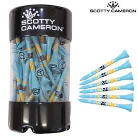 【限定】スコッティキャメロン Golf Tees 70mm 75本入 Circle-T ロゴ入り ウッドティーセット ブルー/イエロー/ブラック Scotty Cameron USA直輸入品【レア商品】
