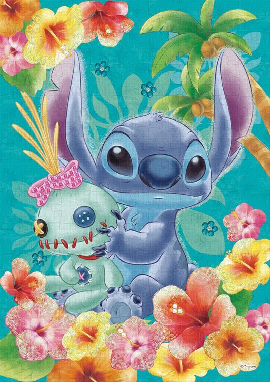 【あす楽】 EPO-72-009 ディズニー Stitch(スティッチ)-tropical blue- (リロ&スティッチ) 108ピース [CP-PD] パズル デコレーション パズデコ Puzzle Decoration 布パズル ギフト プレゼント
