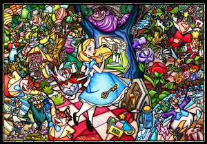 TEN-DP1000-027 ディズニー ふしぎの国のアリス ストーリーステンドグラス 1000ピース