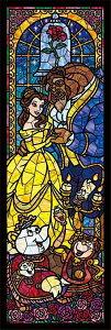 TEN-DSG456-732 ディズニー 美女と野獣 ステンドグラス(美女と野獣) 456ピース