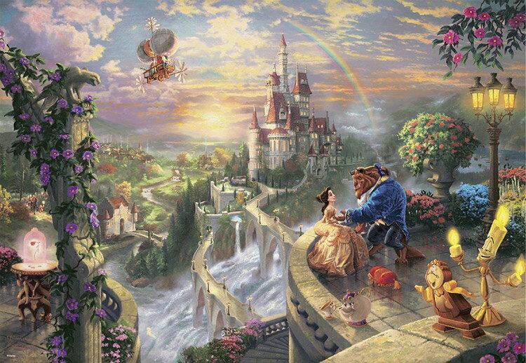 TEN-D1000-487 ディズニー Beauty and the Beast Falling in Love (美女と野獣) 1000ピース [CP-D] パズル Puzzle ギフト 誕生日 プレゼント 誕生日プレゼント