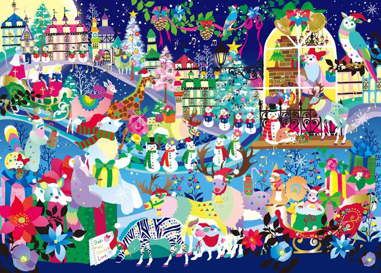 ジグソーパズル EPO-79-128s ホラグチカヨ 聖なる夜のシロクマの恋 500ピース パズル Puzzle ギフト 誕生日 プレゼント