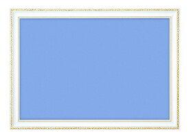 BEV-00442 木製豪華フレーム アンティークホワイト 10-D / No.32 49×72cm (ラッピング不可)