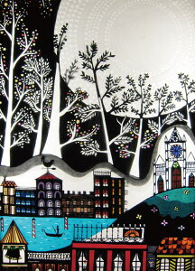 EPO-79-170s イラスト 白い木の街 500ピース  パズル Puzzle ギフト 誕生日 プレゼント 誕生日プレゼント