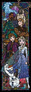 TEN-DSG456-739 ディズニー アナと雪の女王2 ステンドグラス (アナと雪の女王) 456ピース パズル Puzzle ギフト 誕生日 プレゼント