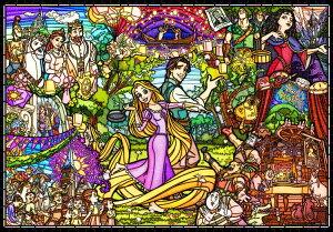 TEN-DP1000-036 ディズニー 塔の上のラプンツェル ストーリーステンドグラス (塔の上のラプンツェル) 1000ピース パズル Puzzle ギフト 誕生日 プレゼント