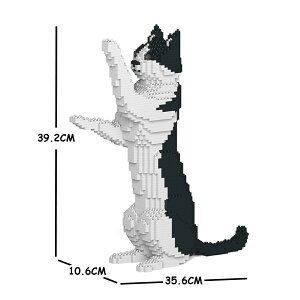 JEKCA ジェッカブロック 白黒猫 ねこ 17S-M01 Sculptor