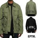 EPTM エピトミ ミリタリージャケット 2カラー アーミージャケット ビッグシルエット デニムジャケット オーバーサイズ アーミーグリーン ブラック カーキ コットン(cotton)メンズ 春 アウター ストリート ロック パンク ファッション モード かっこいい おしゃれ