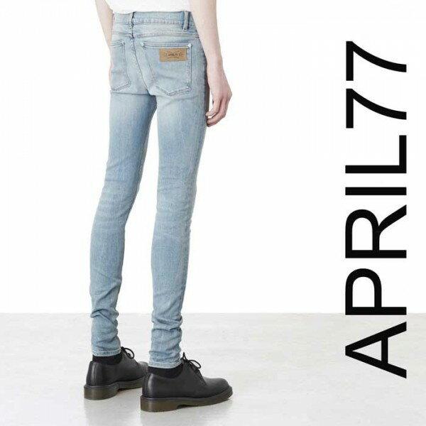 april77(エイプリル77)APRIL77 JOEY Ronnie Ashbury スキニー ジーンズ ライトブルー/スキニーデニム メンズ スキニーパンツ ジーンズ デニムパンツ(ロックファッション パンク ロック バイカー ロカビリー ファッション)ロックな服装 モード系 April77