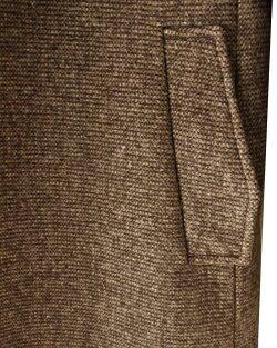 ウールコートヘチマ襟メンズブラウン
