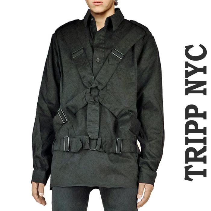 パラシュート シャツ ボンテージ シャツ TRIPP NYC(トリップニューヨーク) パンク ロック ファッション ロック系 パンク系 ボンデージ トップス ブルゾン カバーオール ロック 着こなし あす楽