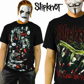 ロックtシャツ バンドtシャツ SLIPKNOTスリップノットロックTシャツ選べる2タイプ!パンクファッション ビックティーシャツ パンク系ラウド系 ハードコア メタル系 コンサートtメンズ トップス 半袖 ティーシャツ 黒 ブラック ヘビーメタル かっこいい metal