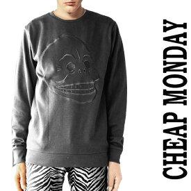 チープマンデー スウェット ブラック CHEAP MONDAY チープマンデイ トレーナー ロックファッション パンクファッション メンズ モード系 ロック系 ストリート系  10倍 秋 冬