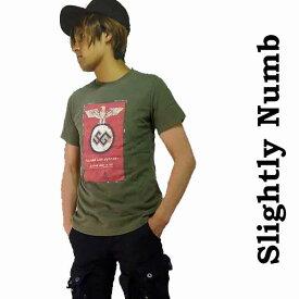 ロックtシャツ バンドtシャツ パンクファッション 超PUNKYなアイアンイーグルTee!新鋭のロック ブランドSlightly Numb ロックファッション ロック系 パンク系 パンク ロック ファッション ナチス アナーキー ロック 着こなし 春 夏