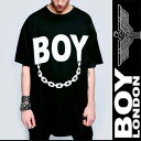 BOYLONDON ボーイロンドン long clothing ロングクロージング ロゴ+チェーンのコラボTシャツ (パンク ロック ファッ…