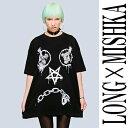 LONG CLOTHINGロングクロージング×MISHKA ミシカ コラボ、オーバーサイズVEX-Tシャツ,keep watch,ロックファッション,パンクファッション,ロック パンク,ユニセックス,