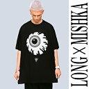 long clothing(ロングクロージング)mishka(ミシカ)コラボ 目玉Tシャツ/ビッグTシャツ ロック パンク ファッション ロックtシャツ バンドtシャツ メンズ パンクファッション (