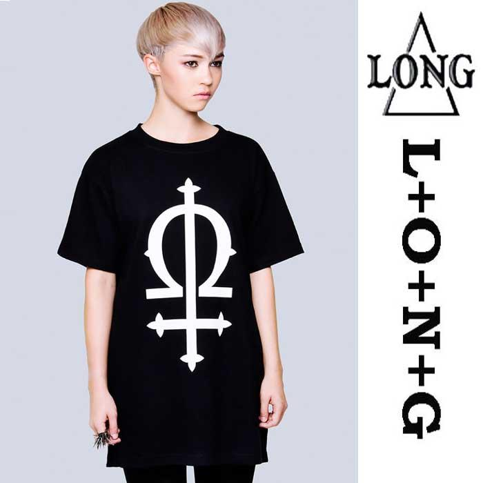 """LONG CLOTHING ロングクロージング""""OMEGA""""グラフィックTシャツロックファッション パンクファッションロックテイスト パンクテイスト ユニセックス BOY LONDON,ボーイロンドン BOYLONDON ロックTシャツ(服 おしゃれ)"""