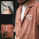 ボーリングシャツ アメリカン レトロ シャツ 開襟シャツ 刺繍 アロハシャツ 半袖 メンズ レトロシャツ キューバシャツ ストリート ロッ…