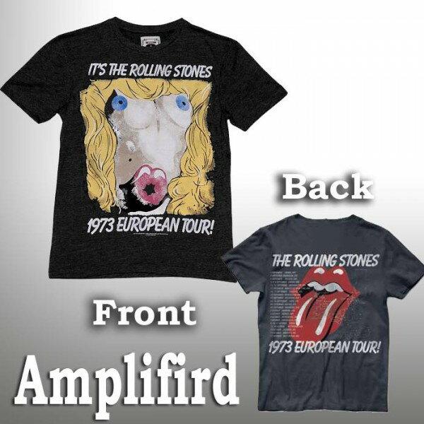 ロックtシャツ amplified(アンプリフィード)The Rolling Stones(ローリングストーンズ)1973ヨーロピアンツアーTシャツ バンドTシャツ ロック ファッション ROCK パンクファッション ロックtシャツ アンプリファイド ロック系