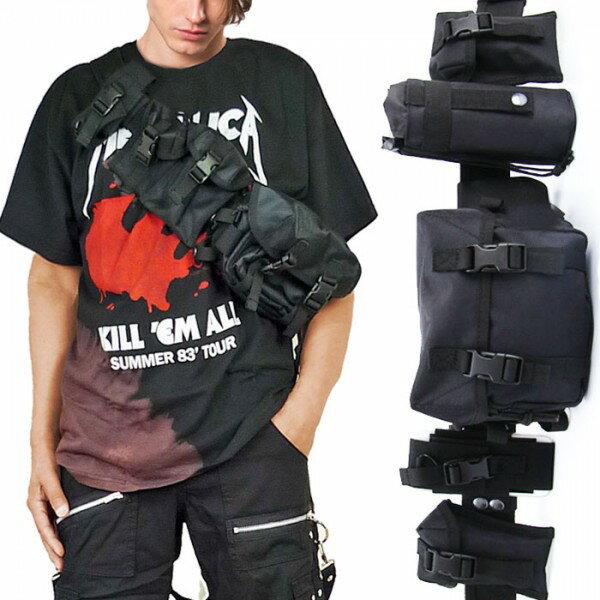 ウエストバッグ ショルダーバッグ ベルトポーチ ミリタリー バッグ ロックでクールなバッグ ロックファッション パンクファッション  ストリートファッション フェス